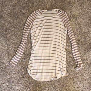 Long sleeve baseball tee style shirt